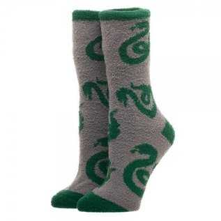 Bioworld Chaussettes - Harry Potter - Serpentard Grises 1 Paire Fuzzy