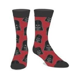 Bioworld Chaussettes - Star Wars - Darth Vader Chamoirées Rouges 1 Paire Crew Tube