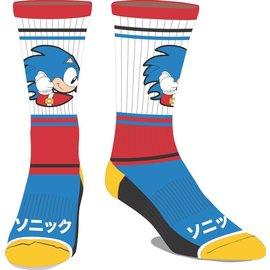 Bioworld Socks - Sonic the Hedgehog - Running Japanese Name 1 Pair Crew Tube