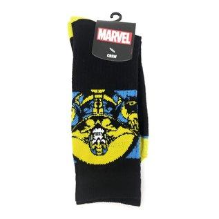 Bioworld Chaussettes - Marvel - Thanos Noires 1 Paire Crew