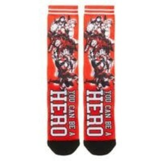 Bioworld Chaussettes - My hero Academia - You Can be a Hero Sublimées Rouges 1 Paire Crew