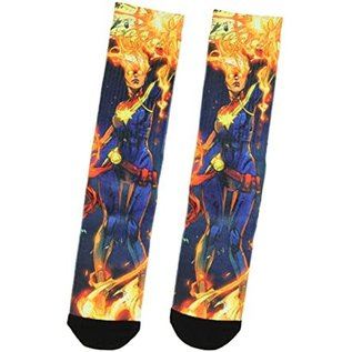 Bioworld Chaussettes - Marvel - Captain Marvel: Sublimées 1 Paire Crew