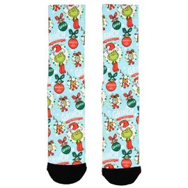 Bioworld Socks - Dr. Seuss - The Grinch Naughty or Nice Sublimated 1 Pair Crew