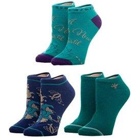 Bioworld Socks - Disney - Aladdin: A Whole New World 3 Pairs Ankle Pack