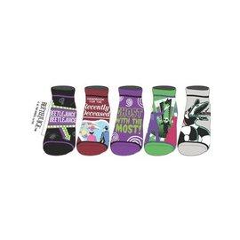 Bioworld Socks - Beetlejuice - Assorted Designs 5 Pairs Ankle Pack