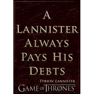 Ata-Boy Aimant - Game of Thrones - A Lannister Always Pays His Debts