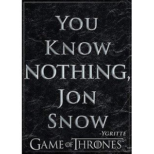 Ata-Boy Aimant - Game of Thrones - You Know Nothing, Jon Snow