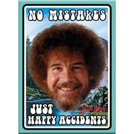 Ata-Boy Aimant - Bob Ross - No Mistakes Just Happy Accidents