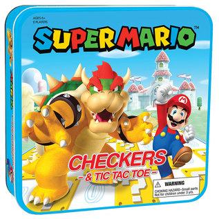 The OP Games Jeu de société - Nintendo - Super Mario: Dames et Tic-Tac-Toe