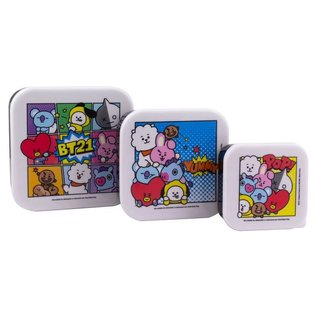 Paladone Bento Box - BT21 - Personnages Line Friends Snack Boxes Set of 3