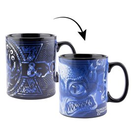 Paladone Mug - Dungeons & Dragons - Beholder Heat Reactive with D20 Sticker 16oz