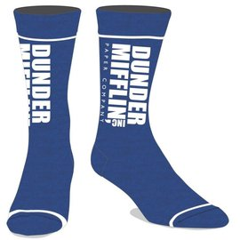 Bioworld Chaussettes - The Office - Dunder Mifflin Paper Company Logo Bleues 1 Paire Crew