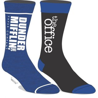Bioworld Chaussettes - The Office - Dunder Mifflin Paper Company Logo Bleues 2 Paires Crew