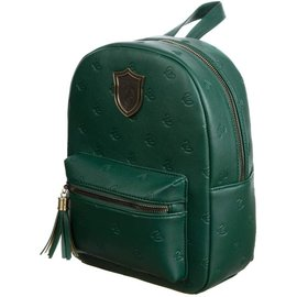 Bioworld Mini Backpack - Harry Potter - Slytherin with Embossed Snakes and Metal Logo