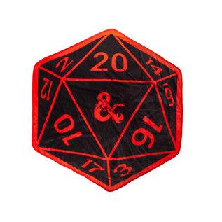 Bioworld Couverture - Dungeons & Dragons - En Forme de Dé Noir et Rouge Jeté en Peluche