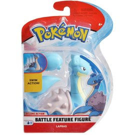 Wicked Cool Toys Figurine - Pokémon - Lapras Deluxe Battle Feature 4.5""