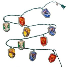 Kurt S. Adler Holiday Decoration - Harry Potter - Light Strand with the Houses Crests