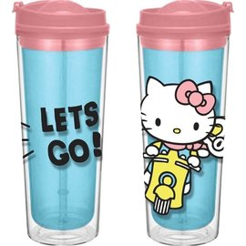 Vandor Tasse de voyage - Hello Kitty - Hello Kitty En Scooter Let's Go! 16 oz