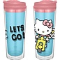 Vandor Travel Bottle - Hello Kitty - Hello Kitty on a Scooter Let's Go! 16 oz