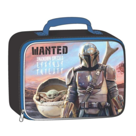 Bioworld Lunch Box - Star Wars The Mandalorian - The Child ''Baby Yoda'' and Mando ''Wanted Unknown Species''