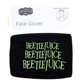 Bioworld Face Mask - Beetlejuice - Face Cover: Beetlejuice Logo