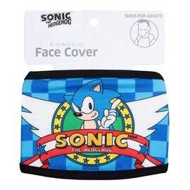 Bioworld Face Mask - Sonic The Hedgehog - Face Cover: Sonic Logo