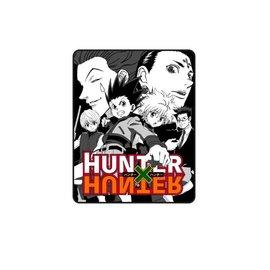 Bioworld Blanket - Hunter X Hunter - Gon, Kurapika, Killua, Leorio, Hisoka Plush Throw