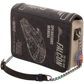 Bioworld Purse - Star Wars - Millenium Falcon Operations Manual with Keychain