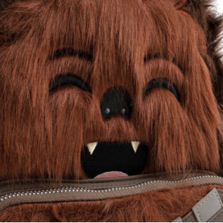 Loungefly Mini Sac à Dos - Star Wars - Empire Strikes Back: Chewbacca en Fausse-Fourrure