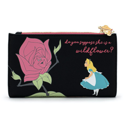 Loungefly Portefeuille - Disney - Alice au Pays des Merveilles: Alice avec les Fleurs ''Do you suppose she is a wildflower?''