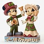 Enesco Showcase Collection - Disney Traditions - Mickey Mouse: Minnie et Mickey ''Les Fêtes Résonnantes'' par Jim Shore