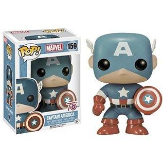 Funko Funko Pop! - Marvel - Captain America (Light Blue) 159 *Amazon Exclusive*