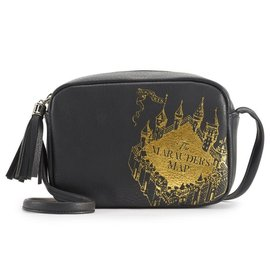 Bioworld Purse - Harry Potter - Marauder's Map Black and Gold
