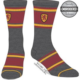 Bioworld Socks - Harry Potter - Gryffindor with Red and Yellow Stripes 1 Pair Crew