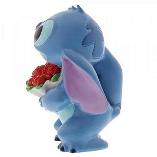 """Showcase Collection Figurine - Disney Lilo et Stitch - Stitch avec Bouquet de Fleurs en Vinyle 3.5"""""""