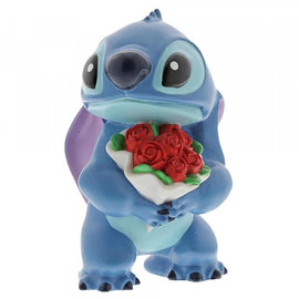 Showcase Collection Figurine - Disney - Lilo and Stitch: Stitch with Flowers  Vinyl 3.5''