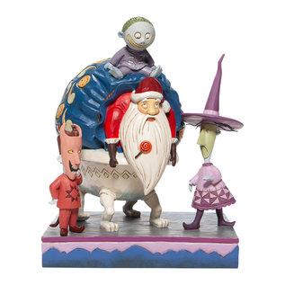 Enesco Showcase Collection - Disney Traditions - The Nightmare Before Christmas:  Lock ,Shock, Barrel et Père Noel ''Kidnappé et prêt à la livraison'' par Jim Shore