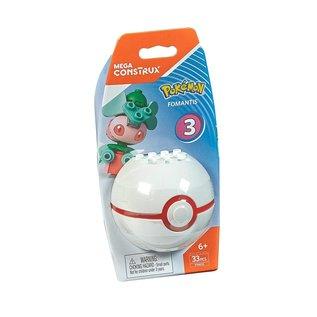 MEGA Brand Figurine - Pokémon - Mega Construx Fomantis avec Premier Poké Ball Série 3