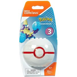 MEGA Brand Figurine - Pokémon - Mega Construx Crabrawler avec Premier Poké Ball Série 3