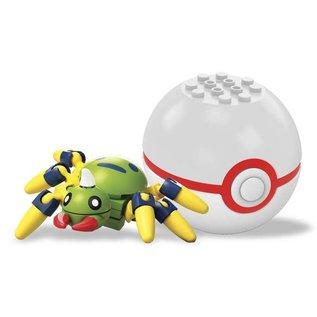 MEGA Brand Figurine - Pokémon - Mega Construx Spinarak avec Premier Poké Ball Série 3