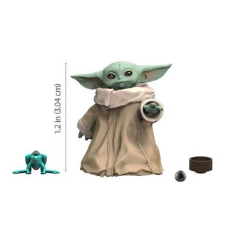 Hasbro Figurine - Star Wars The Mandalorian - The Child ''Bébé Yoda'' The Black Series avec Accessoires 1.1''