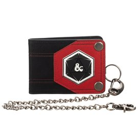 Bioworld Wallet - Dungeons & Dragons - 3D Dice with Ampersand Black and Red with Chain