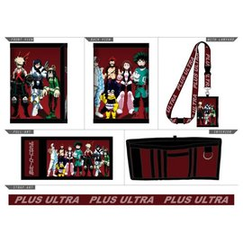 Bioworld Wallet - My Hero Academia - Characters Plus Ultra with Lanyard Trifold
