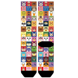 Bioworld Socks - Nintendo - Animal Crossing: Character Grid Sublimated 1 Pair Crew