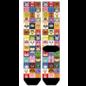 Bioworld Chaussettes - Nintendo - Animal Crossing: Grille de Personnages Sublimées 1 Paire Crew