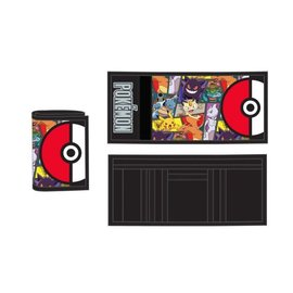 Bioworld Wallet - Pokémon - Poké Ball and Characters Junior Trifold