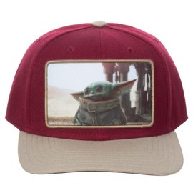 "Bioworld Casquette - Star Wars The Mandalorian - The Child ""Bébé Yoda"" Photo Rouge"