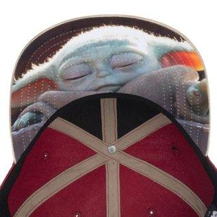 Bioworld Casquette - Star Wars The Mandalorian - The Child ''Bébé Yoda'' Photo Rouge