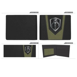 Bioworld Wallet - Star Wars The Mandalorian - Mandalore Symbol Black and Green Bifold