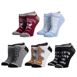 Bioworld Socks - The Office - Assorted Designs Pack of 5 Short Ankle
